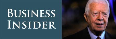 Jimmy Carter with the Business Insider logo