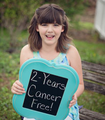 Emily Whitehead celebrating 2 years being cancer free