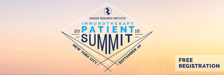 2016 Immunotherapy Patient Summit