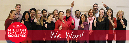 Cancer Research Institute's staff celebrating first place