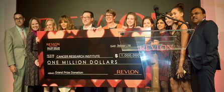 Receiving $1 million for the Revlon LOVE IS ON Million Dollar Challenge