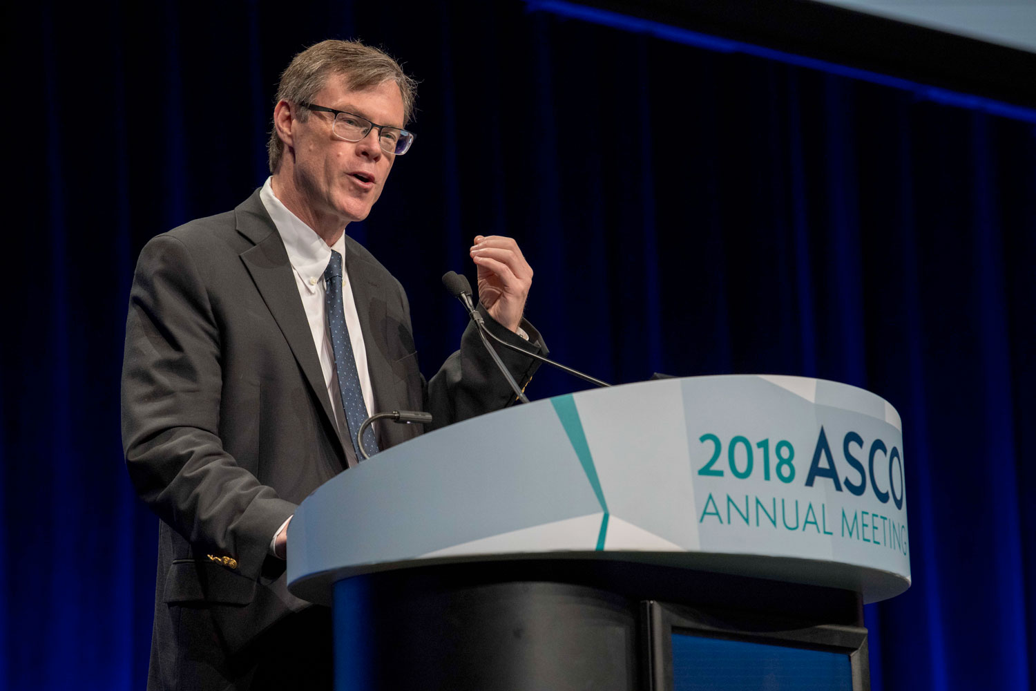Charles Drake speaking at ASCO18