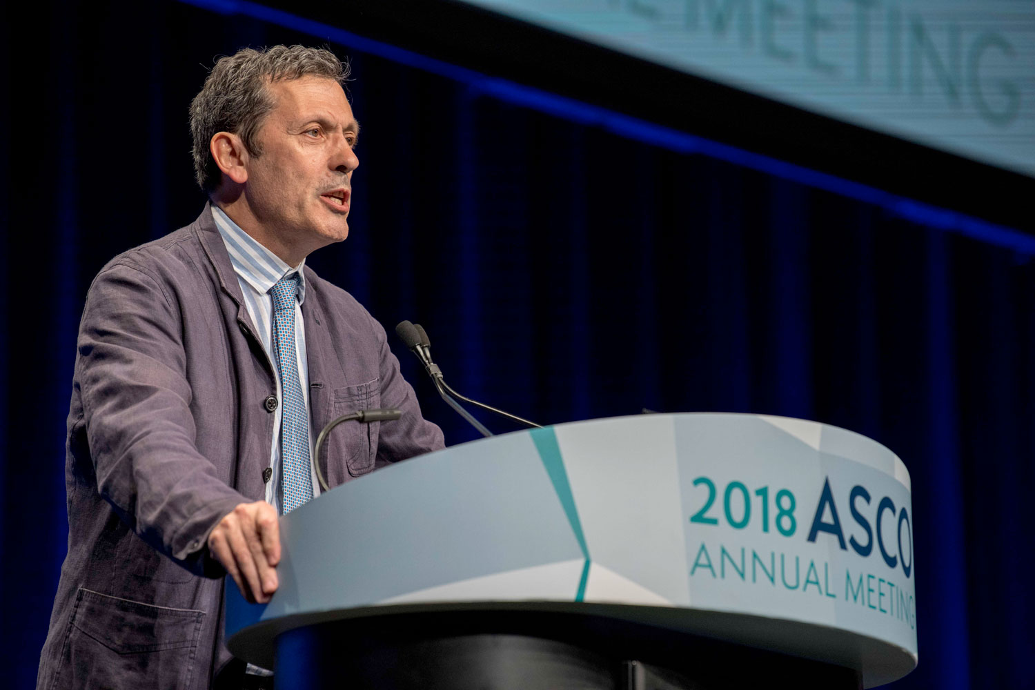 Luis Paz-Ares speaking at ASCO18