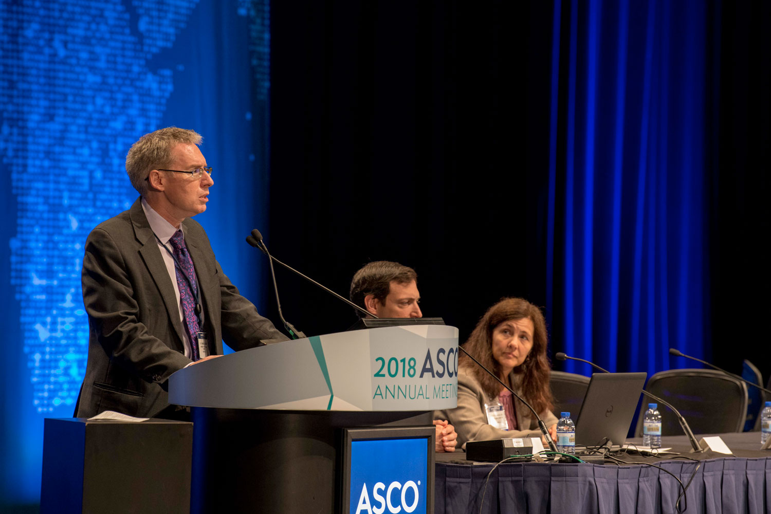 D. Ross Camidge speaking at ASCO18