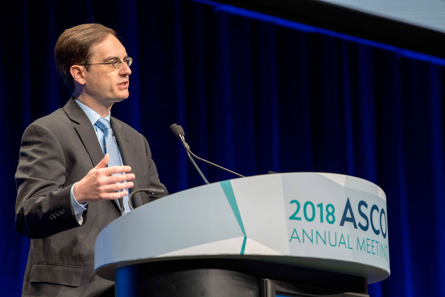 Panagiotis Konstantinopoulos speaking at ASCO18