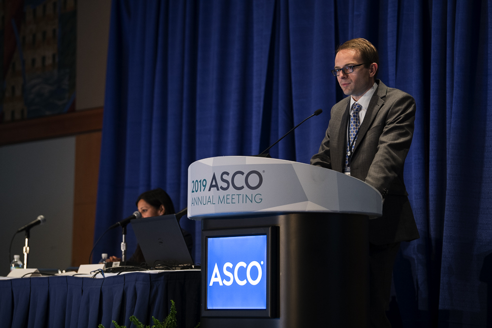 Douglas B. Johnson, M.D., of the Vanderbilt University Medical Center, discussed the long-term outcomes of patients treated with PD-1 immunotherapy at ASCO19.