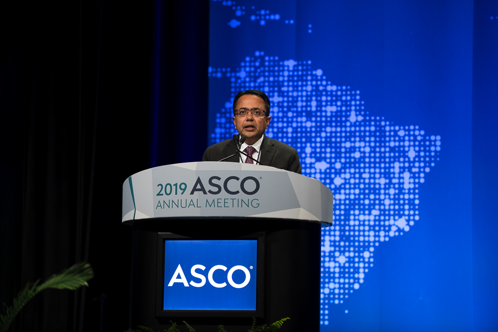 Neeraj Agarwal, M.D., of the University of Utah Huntsman Cancer Institute, discussed patient-reported outcomes in the Phase 2 IMmotion150 trial at ASCO19.