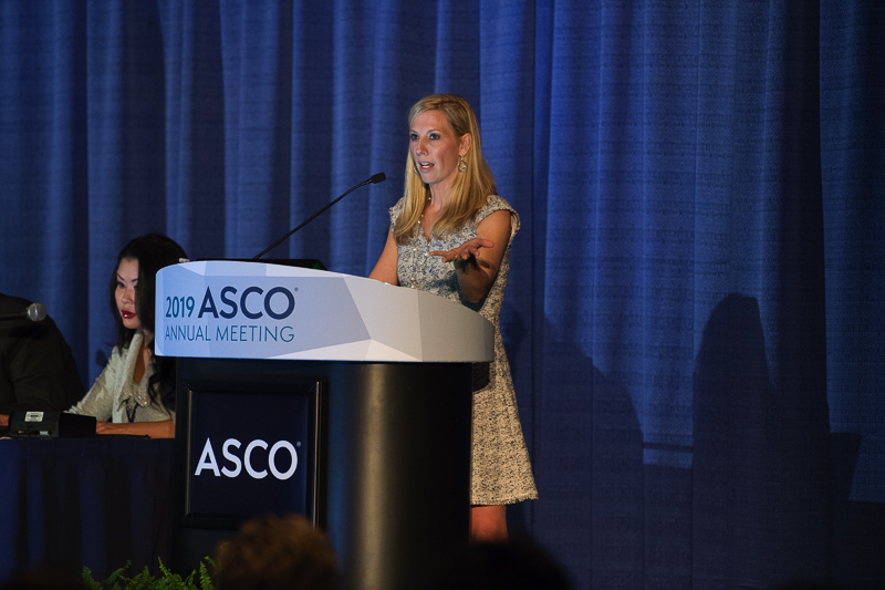 Kristin A. Higgins, M.D., of the Winship Cancer Institute of Emory University, discussed combination therapy for lung cancer at ASCO19.