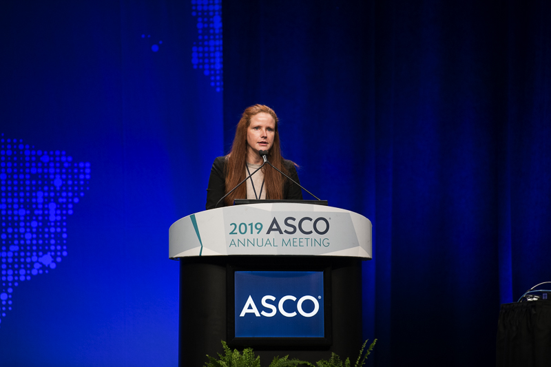 Geraldine Helen O'Sullivan Coyne, M.D., Ph.D., of the National Cancer Institute, discussed a Phase 1 trial for stomach and colorectal cancer at ASCO19.