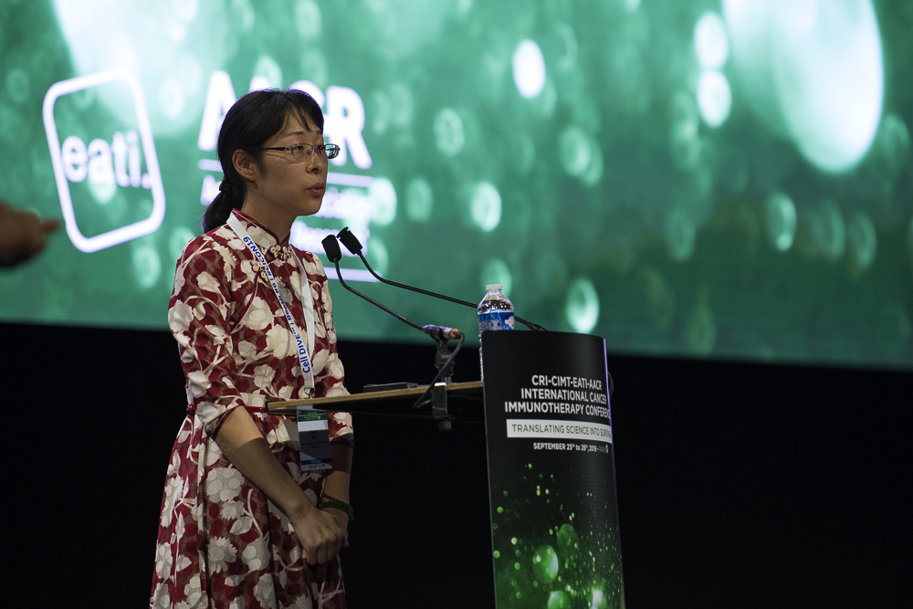 Yuting Ma, Ph.D., discusses how mental stress changes the immune context within tumors in mice at CICON19