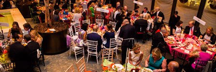 Through the Kitchen 2015 guests at decorated tables
