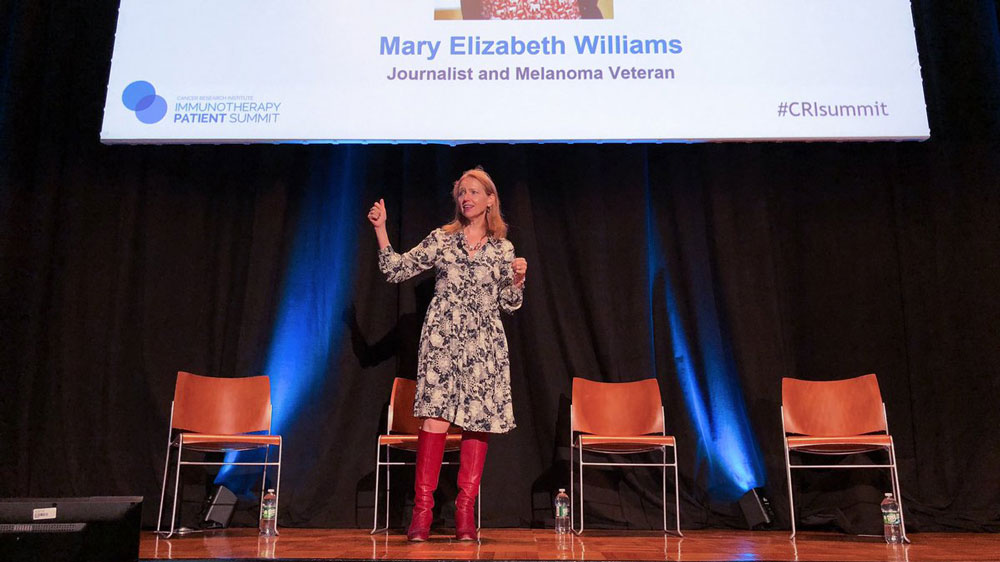 Mary Elizabeth Williams discusses the importance of asking questions about immunotherapy with your healthcare team. Photo by Chary Sathea.