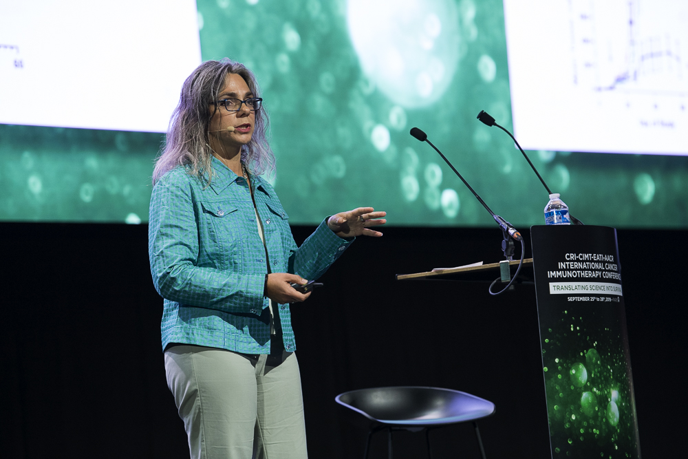 Elizabeth Evans, Ph.D., discusses combination immunotherapy involving a SEMA4-blocking antibody at CICON19