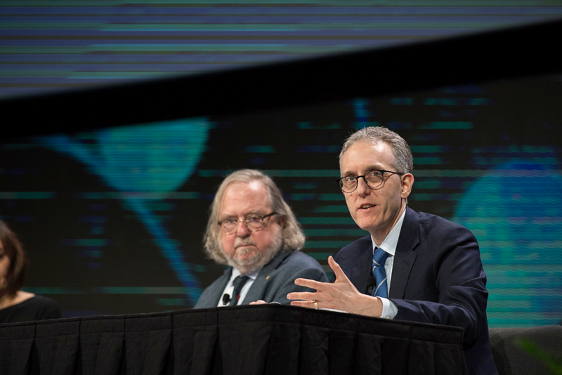 Drs. James Allison and Jedd Wolchok, two pioneers in CTLA-4 blockade therapy, speaking at AACR19.