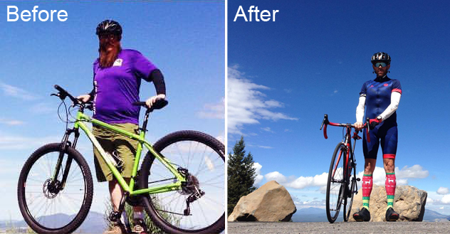 Brian Before and After He Started Cycling