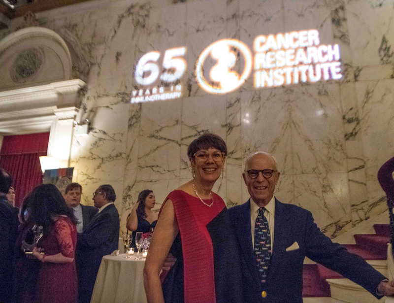 Jill O'Donnell-Tormey, Ph.D., and Jacques C. Nordeman at 2018 CRI Awards Gala. Photo by Arthur Brodsky