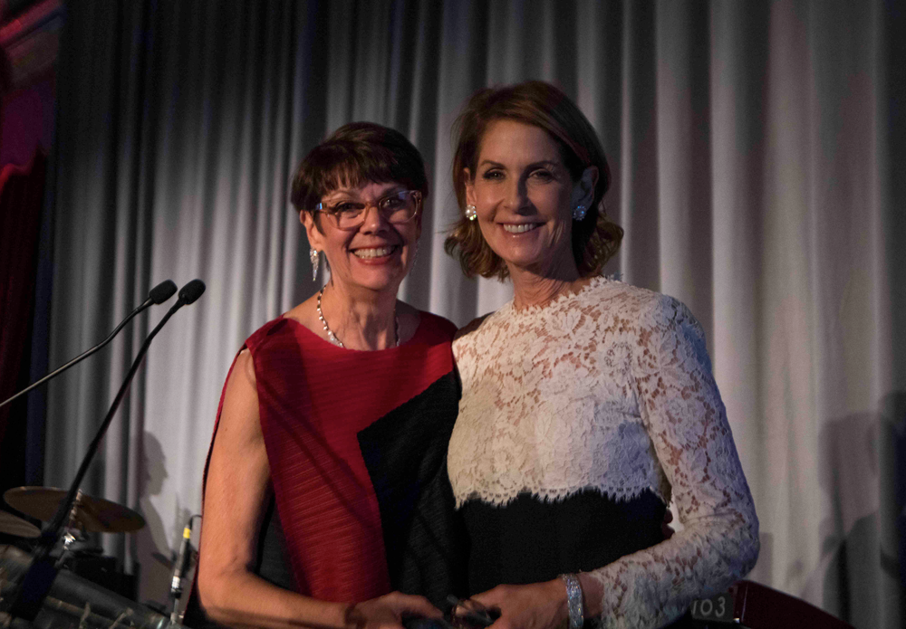 Jill O'Donnell-Tormey and Perri Peltz at CRI 2018 Awards Gala. Photo by Arthur Brodsky.