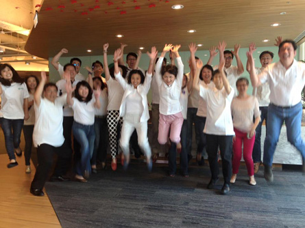 Merck MSD Taipei jumps and wears white for White Out Cancer Day 2015