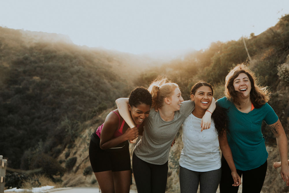 Female Friends Hiking