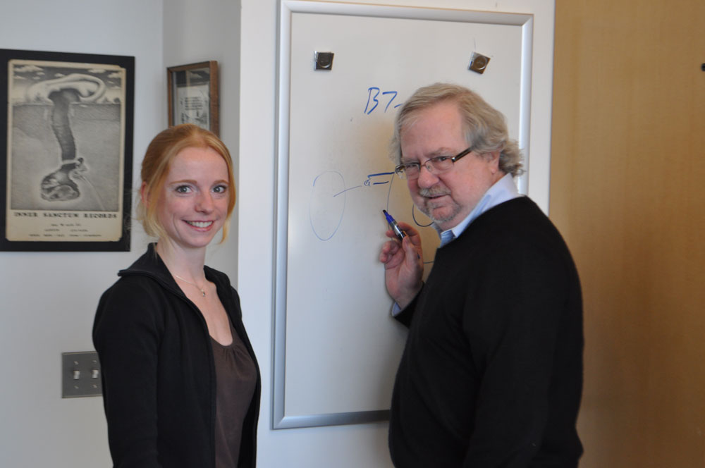 Katharina Kreymborg, Ph.D. as a CRI postdoctoral fellow wth her sponsor Dr. James Allison