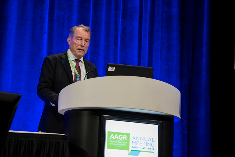 Cornelis J. M. Melief, M.D, Ph.D., highlighted the use of HPV-targeting vaccines on Sunday, March 31, 2019, at AACR19.