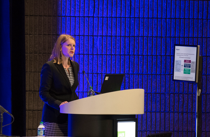 Solange Peters, M.D., Ph.D., of the University of Lausanne, discusses the phase III MYSTIC trial at AACR19.