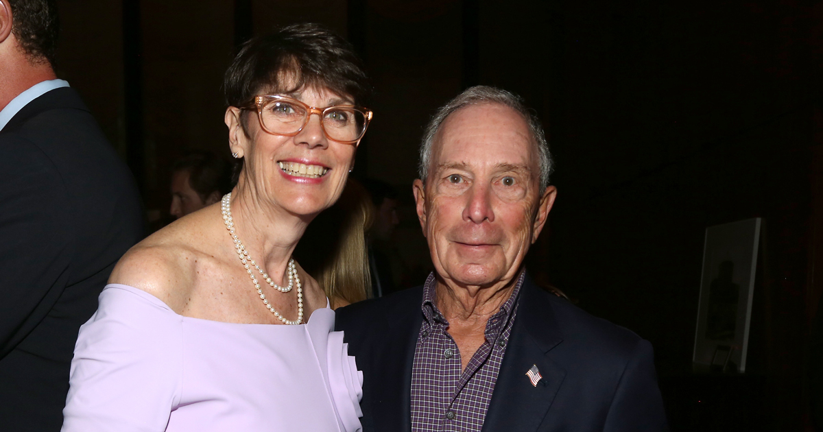 Dr. Jill O'Donnell-Tormey (CEO of Cancer Research Institute) and Michael Bloomberg (former Mayor of New York City) at Through the Kitchen 2019