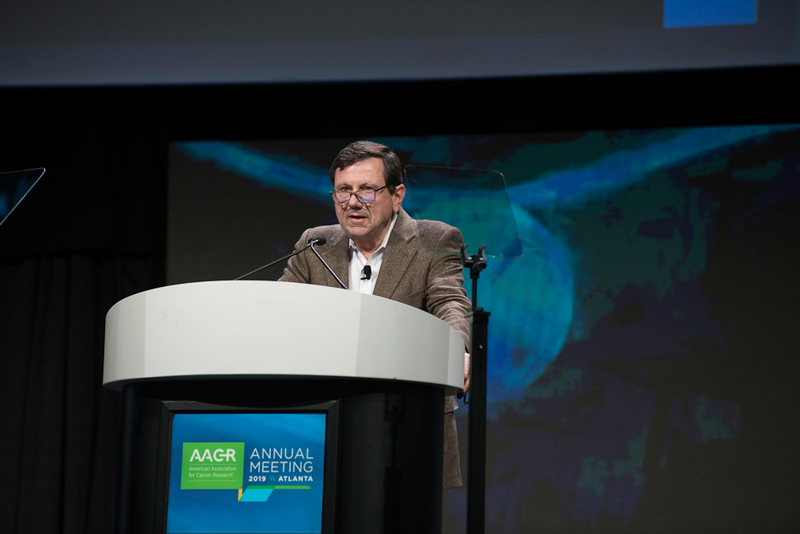 Giorgio Trinchieri, M.D.,of the National Cancer Institute, discusses how the microbiome can influence patient responses to immunotherapy at AACR19.