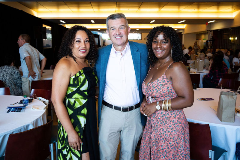 L-R: Ernestina Dos Reis, Dr. David Reardon, and Joycelin Dos Reis. Photo by Adrianne Mathiowetz.