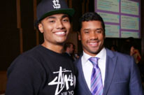Patient Milton Wright with Russell Wilson