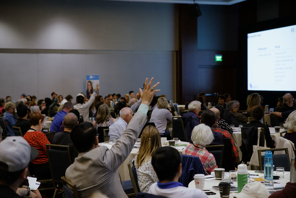 San Francisco 2018 Patient Summit - audience participating in question and answer