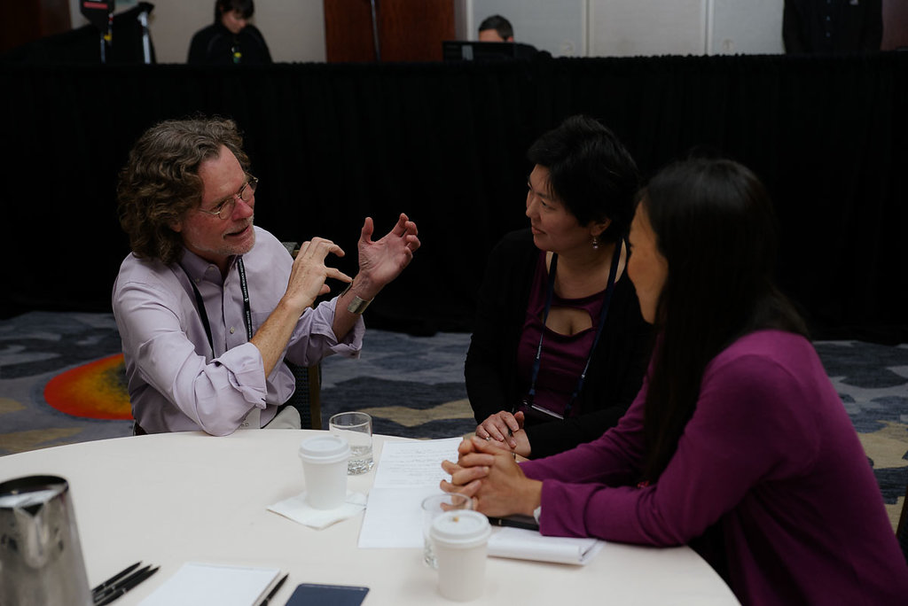 San Francisco 2018 Patient Summit - Lewis Lanier with attendees in breakout session