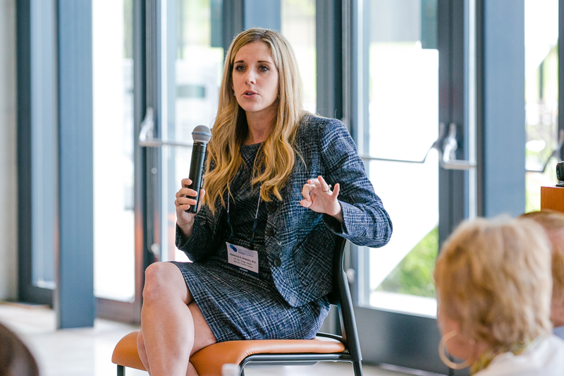 Dr. Rebecca Shatsky leads a breakout session focused on breast cancer at the CRI Immunotherapy Patient Summit in San Diego on June 29, 2019.