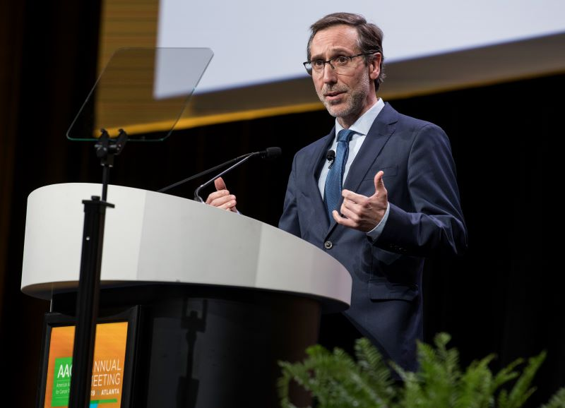 Antoni Ribas, M.D., Ph.D., speaks at the 2019 annual meeting of the American Association for Cancer Research.