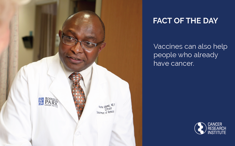 Immunotherapy Fact of the Day: Vaccines can also help people who already have cancer.