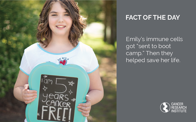 Emily Whitehead's immune cells got sent to boot camp. Then they helped save her life.