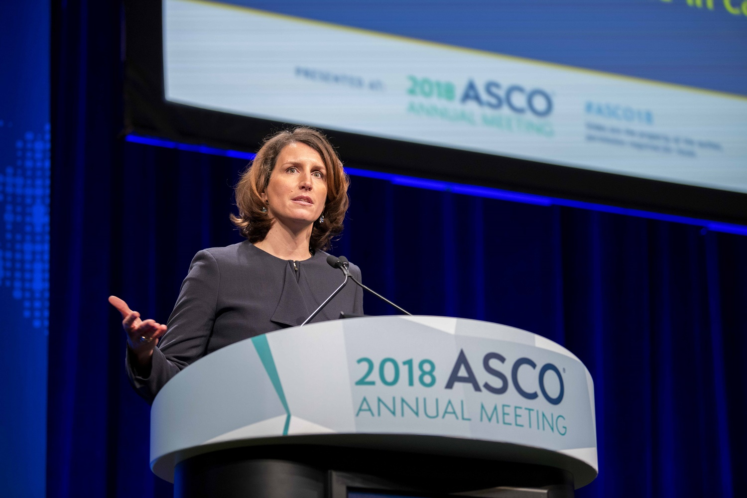 Laurence Albiges speaking at ASCO18