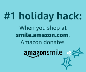 AmazonSmile - #1 holiday hack, when you shop at smile.amazon.com, Amazon donates.