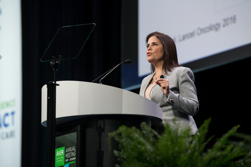 Marcia Cruz-Cortez discusses cancer detection and preventation at AACR19