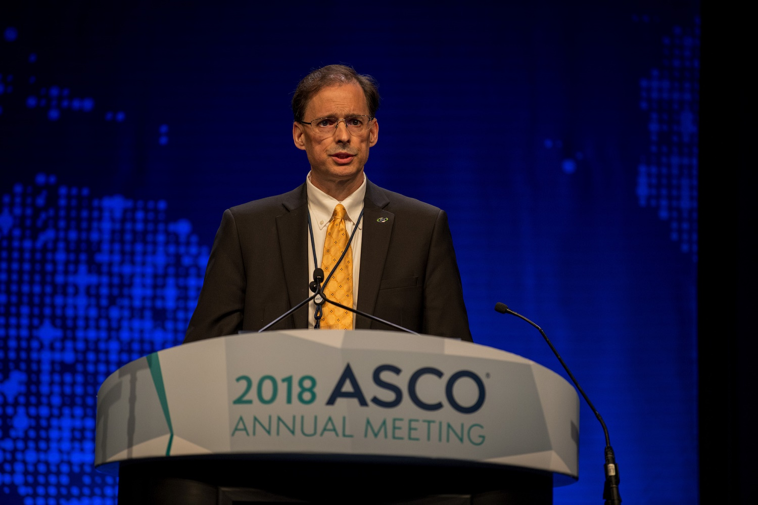 James Gulley speaking at ASCO18