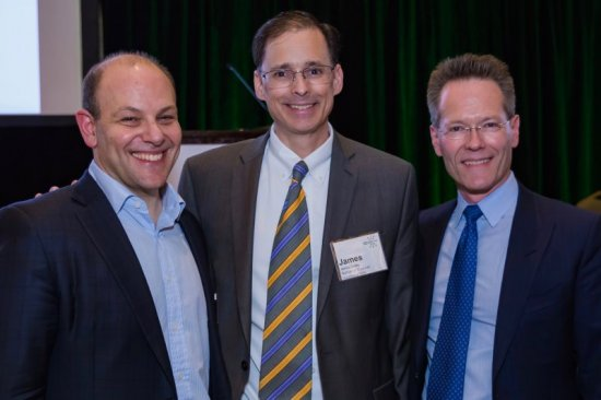 From left: IO360 Keynote Speaker Andrew Baum, and co-lead advisors James Gulley and Axel Hoos
