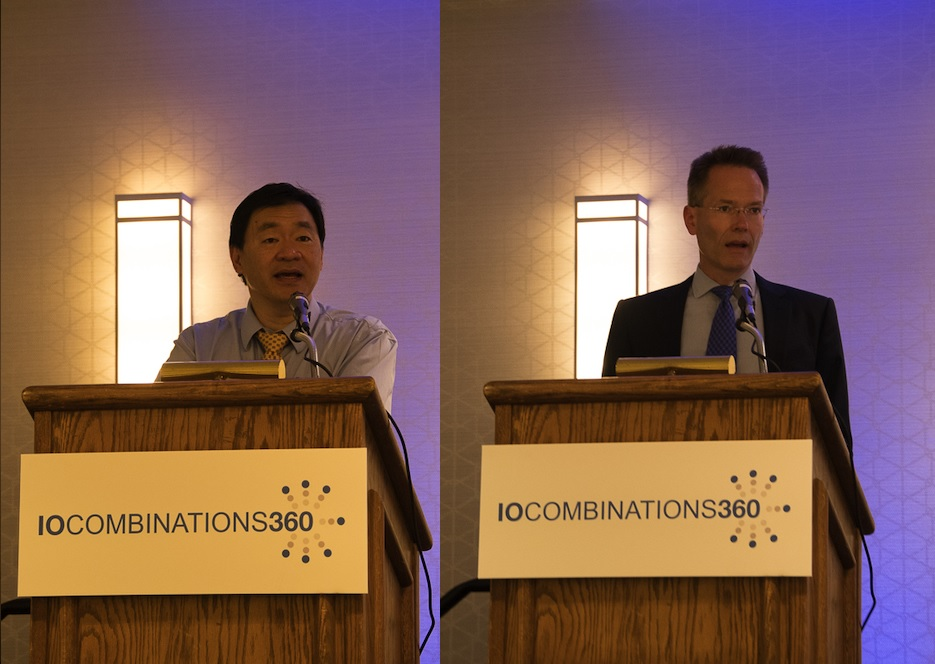 Patrick Hwu, M.D., (L) of MD Anderson Cancer Center, and Axel Hoos, M.D., Ph.D., of GlaxoSmithKline (R)