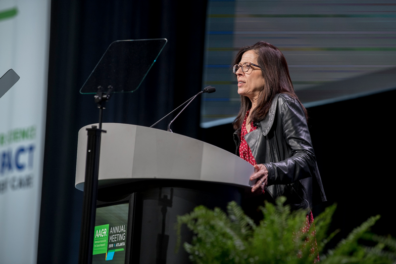 Dr. Elizabeth Jaffee makes closing remarks at AACR19