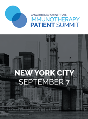 CRI Immunotherapy Patient Summit in New York City on September 7, 2019