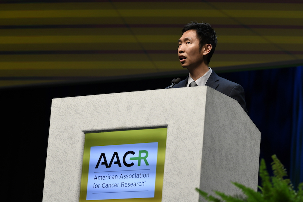 Willy Hugo, Ph.D. speaking at AACR18