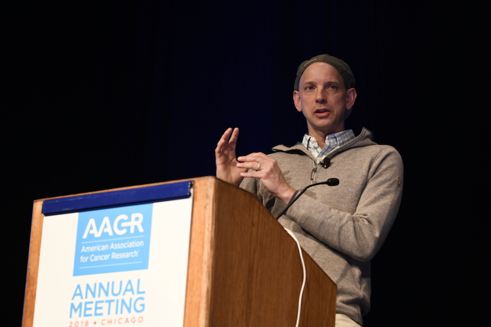 Matthew Krummel, Ph.D., speaking at AACR18