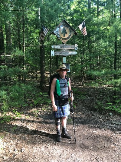 Dan hiking the Appalachian Trail